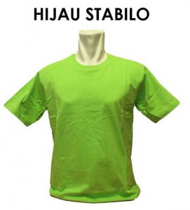 kaos hijau stabilo